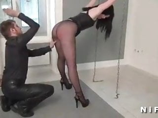 Young slut anal plugged and corrected in a blowbang
