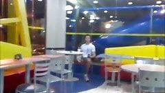 Guy jerking off in public (mc donalds)
