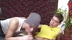 Two young Guys swapping Cum