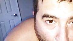 White boy sucking big black cock