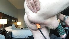 Anal stretching gaping inflating butt plug