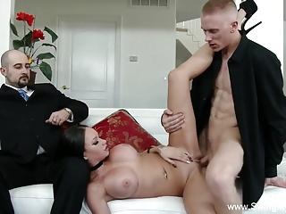 Brunette Swinger Loves New Dick