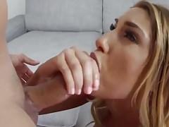 Blonde girl hot fuck