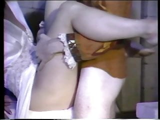 Prince Charming fucks two brides outdoors.