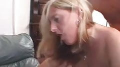 Big couple girls enjoy anal threesome