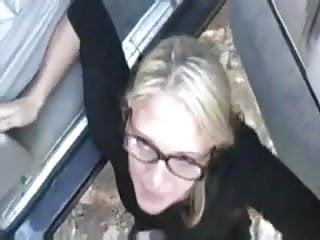 Blonde Outdoor Blowjob Massive Facial