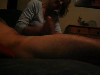young dude gets amateur experienced handjob