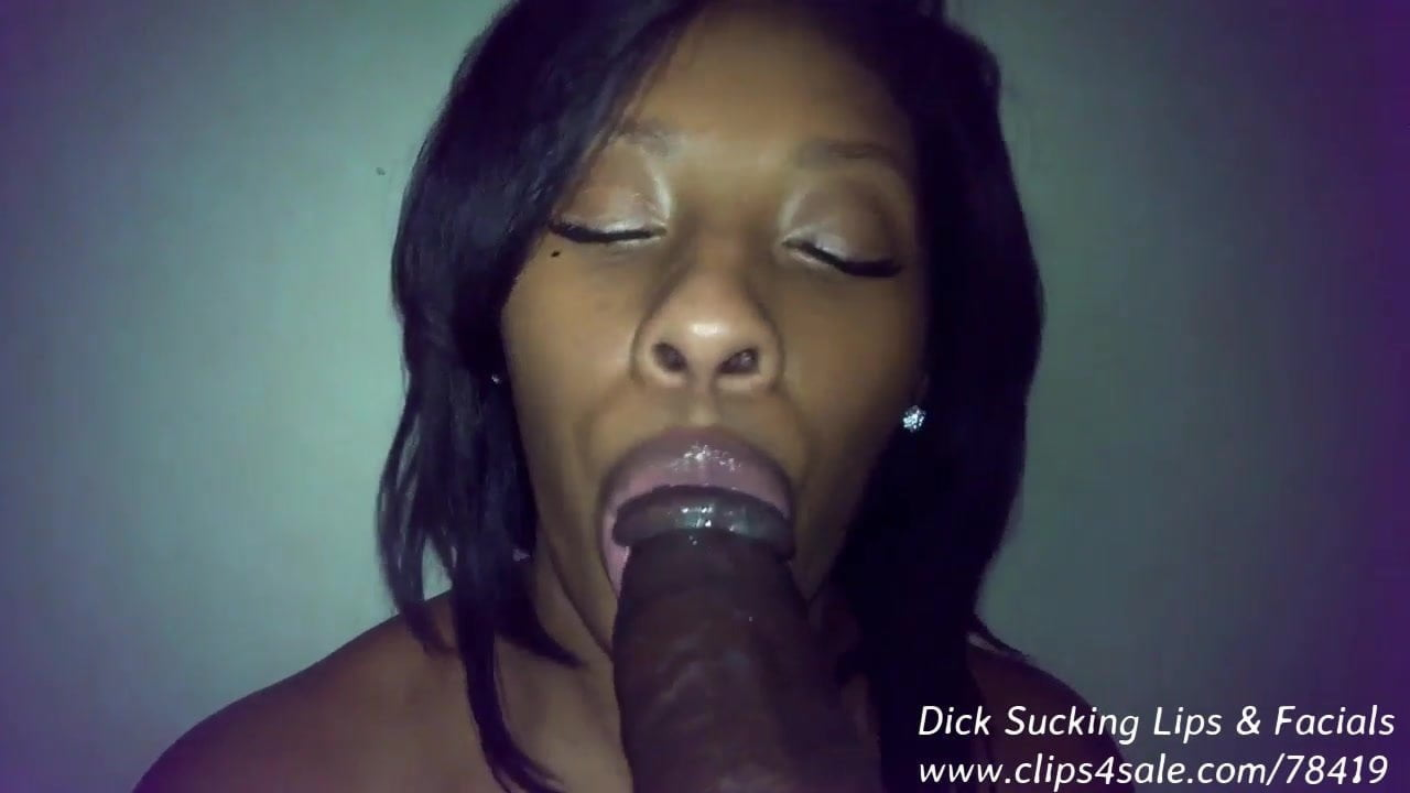 Ebony dick sucking lips