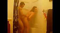 prego couple in shower