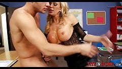 MILF Fucking at School