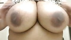 Big Titty Black Woman Plays With Them
