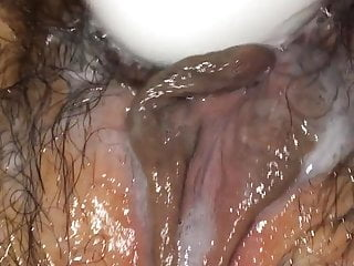 Cum on pussy masterbating