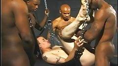 4 Black Cocks Fucking A White Ass