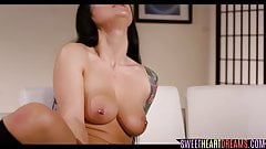 Tattooed bigtits babe getting pussylicked