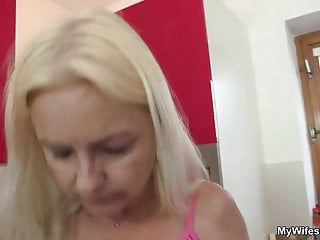 Wife comes in and sees her mom and husband fucking