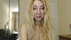Sexy blonde milf on webcam