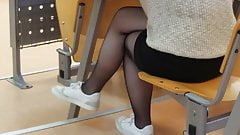 Sexy Turkish teen student dangling in sheer pantyhose's Thumb