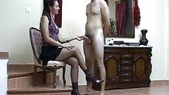Delcia Deity Milks Her Sissy Slave All Of his Cum