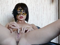 Homemade real russian wife masturbates for husband