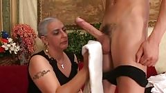 Asian mom and son tubes