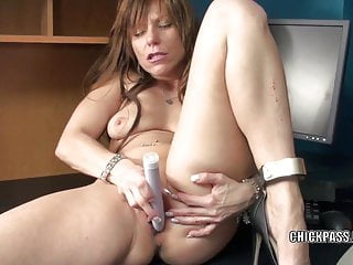 Petite housewife Brandi Minx is playing with her dildo