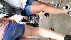Short clips of short shorts and cameltoe.