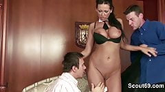 MILF Seduce To Fuck by Two You