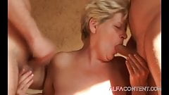 Hardcore threesome action with awasome mature
