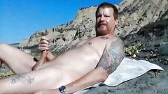 Beach Hard and Masturbating