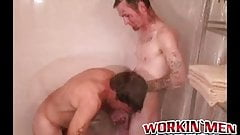 Mature with mustache gets raw fucked after giving a blowjob