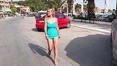 Aleena LE flash in public - Greece