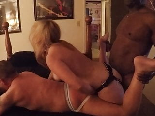 Wife takes BBC while fucking husband