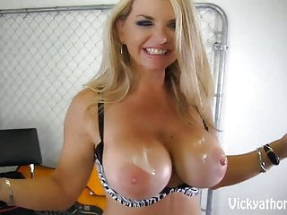 Preview 6 of Cover My Big Tits in Jizz!! MILF Vicky Vette!