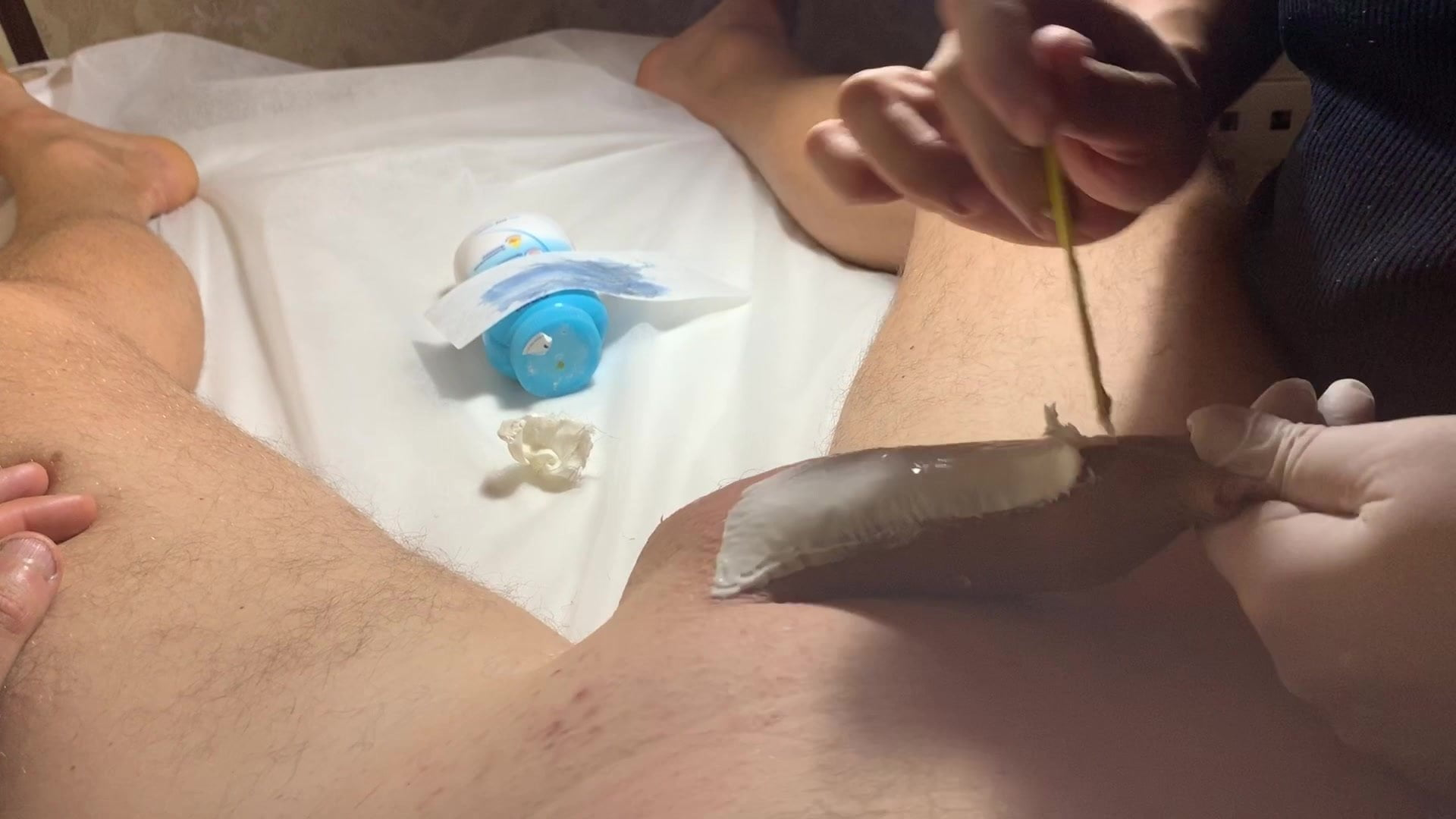 Brazilian Wax for a Big Floppy Dick     Part 3 Cock and Ball