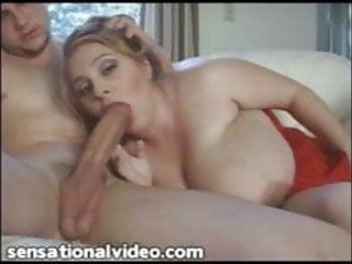 Sexy BBWMILF Gives Stud Sloppy Blowjob