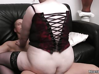 Big boobs plumper sucks and rides his cock