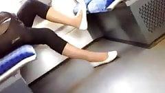 Skin coloured nylons ballerinas 2