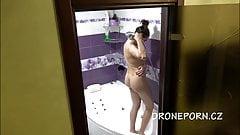 Czech Girl Petra Naked in the shower hidden spy cam