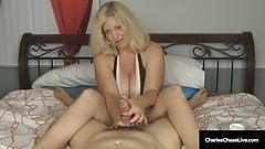 Cock Craving Cougar Charlee Chase Gives Superb Handjob!