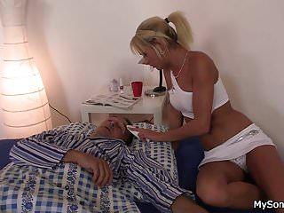 His blonde gf cheating with father in law