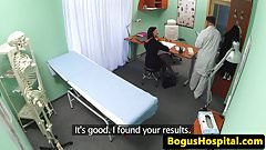 Euro amateur patient doggystyled during exam