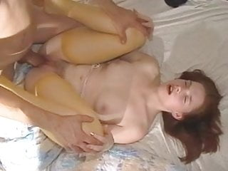 25CM MONSTER COCK FUCKS RED HAIRED BITCH