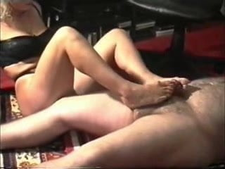 Amateur Nudist Hand Job and Footjob