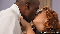HDVPass Redhead slut Ashli Orion sucks a big black cock