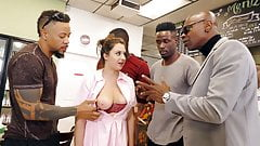 Elektra Rose Interracial Gangbang