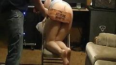 Warning hard paddle  punishment of sub