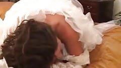 Brunette bride interracial