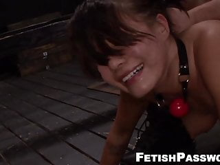 Gagged Asian beauty dominated over and fed with jizz