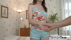 Sweet brunette teen gets a very sexual massage