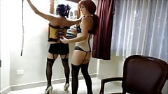 amateur sissy boy dominated by his wife
